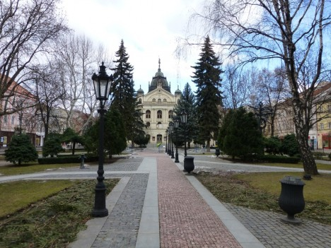 Kosice main park and State Theatre, Slovakia