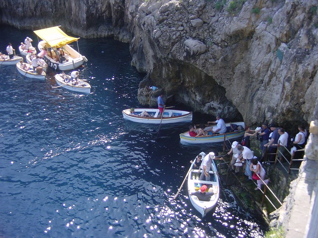 Entrance to Blue Grotto, Capri, Italy