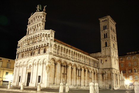 Cathedral of San Michele Arcangelo in Lucca, Tuscany, Italy