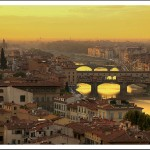 Sunset over Florence, Tuscany, Italy