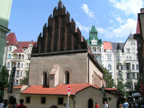 Old-new synagogue, Josefov, Prague, The Czech Republic