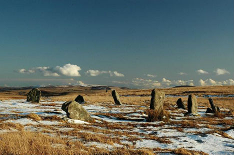 White Hill Stone Circle, Dartmoor National Park, England, United Kingdom
