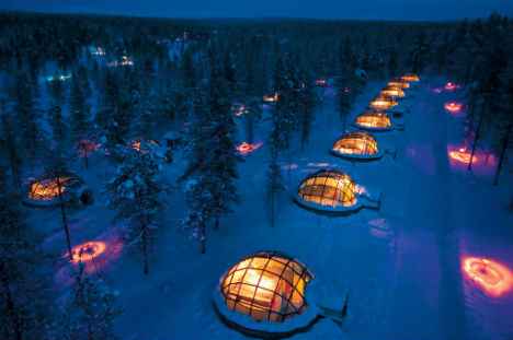 Glass Igloo Village Kakslauttanen, Finland