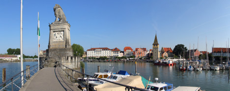 Lindau harbor, Lake Constance, Germany