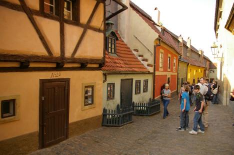 Golden Street at the Prague Castle, The Czech Republic