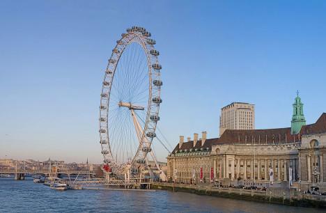 The London Eye on the Southbank, London, England, UK