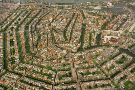 Amsterdam Canals, Aerial view, The Netherlands