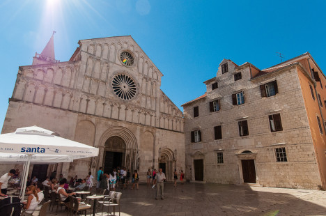 Trogir Cathedral from the main square, Croatia